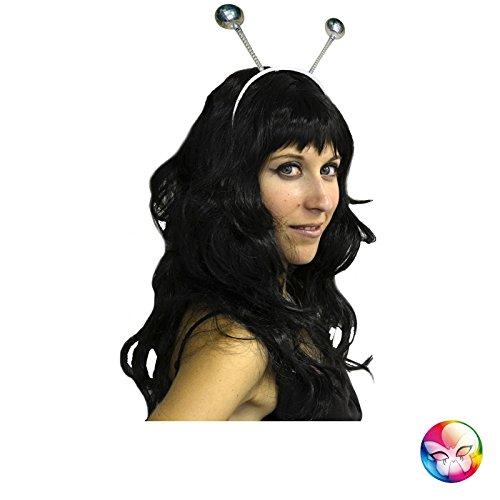 Aptafêtes - AC5100 - Serre-tête antenne boules disco - argent