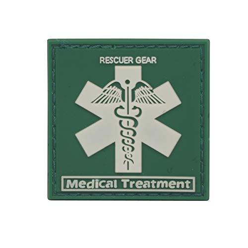 Cobra Tactical Solutions EMT EMS Medic Sanitäter Cross Paramedic Star of Life PVC Patch mit Klettverschluss für Airsoft Paintball für Taktische Kleidung Rucksack