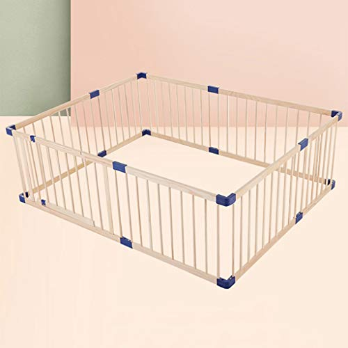 Buy Bargain Playpen Multipurpose Baby Home Indoor - Stable Solid Wood Frame with Safety Gate & Fitte...