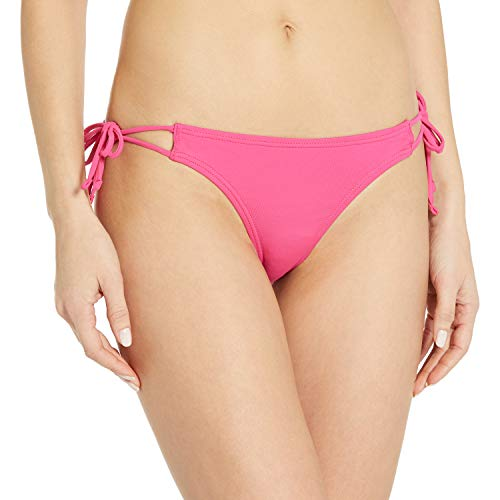 Echo Design Women's Solid String Bikini Bottom, Hibiscus Pink, M