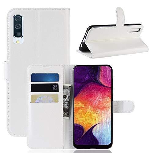 CoverKingz Handyhülle für Samsung Galaxy A50 - Handytasche mit Kartenfach A50 Cover - Handy Hülle klappbar Weiß