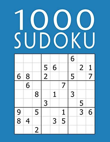 1000 SUDOKU: Colección XXL   fácil - medio - difícil - experto   9x9 Clásico Puzzle   Juego De Lógica Para Adultos