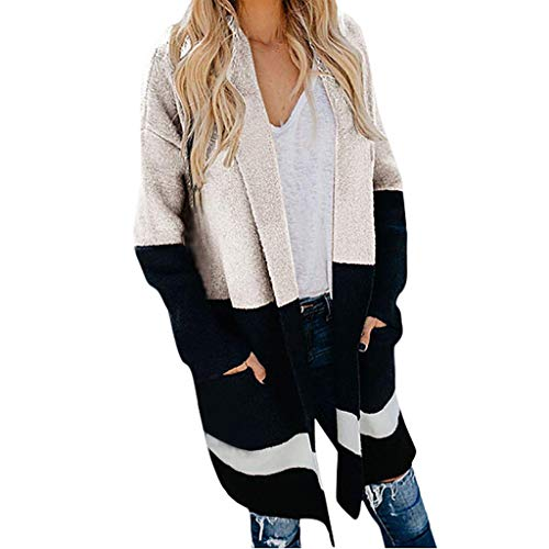Jacke Damen Frühling Hoodies, Weant Damen Herbst Winter Mantel Kapuzenpulli Langarm Bomberjacke Gestreift Parka Outwear Sweatshirt Kapuzenpullover Sweatjacke Windbreaker Strickjacke Winterjacke