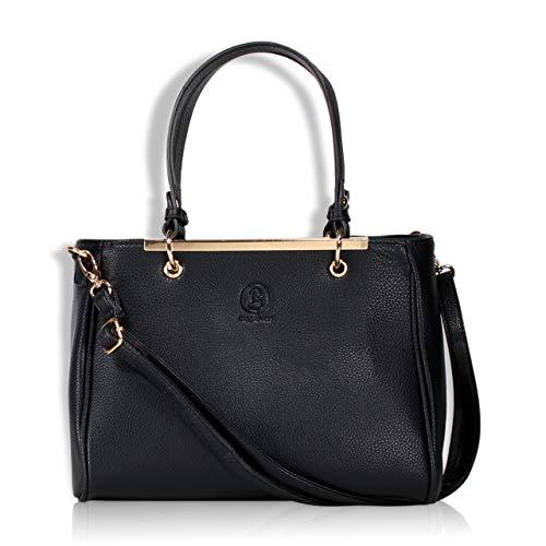 bag lovers - First Love - Wunderschöne Handtasche für Damen - schwarz - Stylische Tote bag in Premiumqualität - Damentasche - mit Schulterriemen