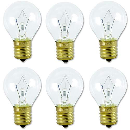 Lava Lamp Bulb 25 Watt, 6 Packs The Lava Original Replacement Bulb for 14.5-Inch/20-Ounce Lava Lamp, E17 Base 120 Volt Lava Lamp Replacement Bulbs, S11 Bulb - Dimmable - High Temp Resist - Warm White