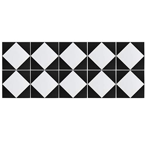HelloCreate 10 pegatinas autoadhesivas para azulejos impermeables antideslizantes para decoración de fondo del hogar