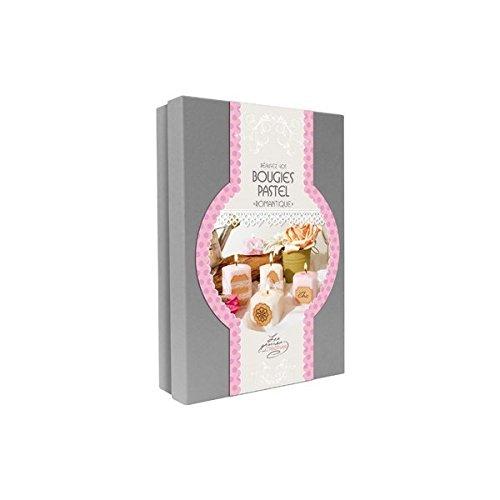 GRAINE CREATIVE 815004 Kit Bougies Romantiques, Carton, Rose, 19,5 x 5,2 x 27,5 cm