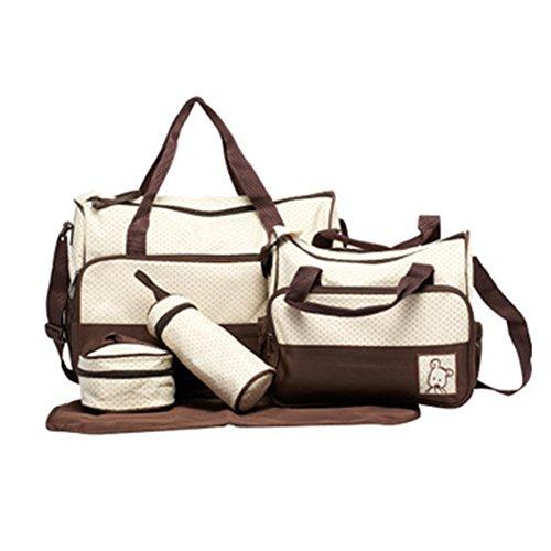 Gladiolus Wasserdichte Wickeltasche Windel Wickeltasche Schwangerschaft Multifunktionale Mama Handtasche Pflegetasche Set Kaffee