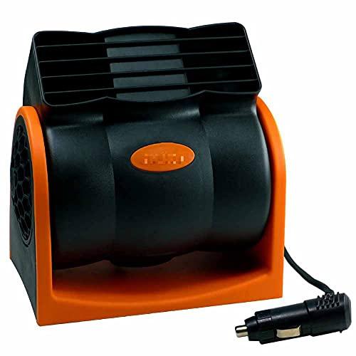 iSpchen Ventiladores de Coche de 24 V, Ventilador de Coche Eléctrico Con Enchufe Para Mechero, Enfriador de Aire Silencioso de Velocidad Portátil Adecuado Para Camión/Rv/Camioneta