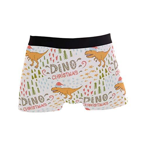 Elroy Gibbon Herren Boxershort Boxer Drucken Sie Soft Dino Tyrannosaurus Männer Unterhosen Unterwäsche,2,XL