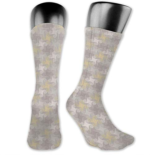 Moruolin Socks Cute Funny Cotton For Summer,Retro Geometric Pattern With Whirlpool Rounded Shapes,Running Outdoor Recreation,Trainer Socks for Men and Women