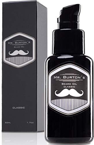 Bartöl - Mr. Burton´s Beard Oil - classic - Made in Germany-50ml Bart Öl für die Bartpflege - mit Arganöl Tierversuchsfrei und vegan