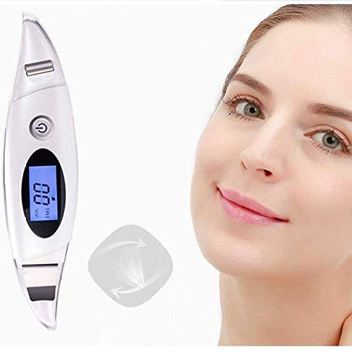 AYYA USB-Lade-Peeling for Gesichtshaut-Peeling-Poren Mitesser-Akne-Extraktor und Gesichtslifting-Geräte - Creative EMS RF-Massage-Roller Anti-Falten-Alterung mit LED-Bildschirm