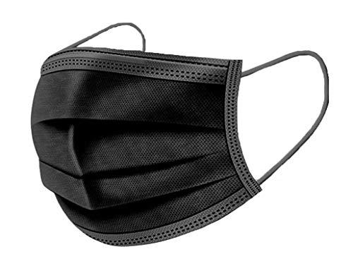 Deep lovly 50PCS Maske Einweg-Masken Mundschutz 3-lagig Einweg Maske mit Elastikband Aktivkohle Maske Outdoor-Unisex-Maske