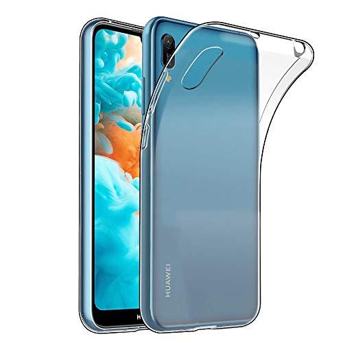 Amonke Transparent Kompatibel mit Huawei Y6 2019 Hülle Silikon Durchsichtig Handyhülle TPU Dünn Stoßfest Fallschutz Bumper Slim Case Cover Schutzhülle für Huawei Y6 2019 6,09''