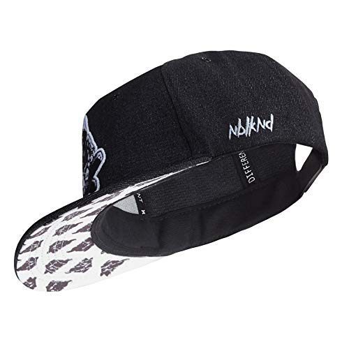 Nebelkind Snapback Cap Black Denim Schwarz Weiß Kappe 6-Panel One Size