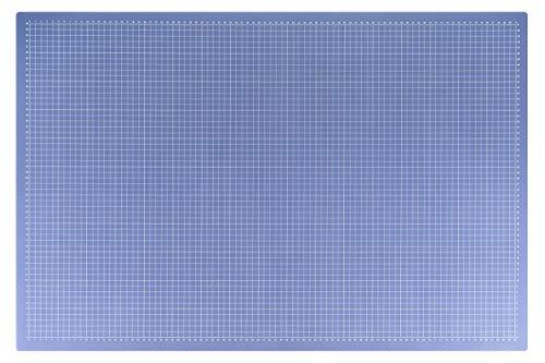 Selbstheilende Schneidematte, 30 x 45 cm | mit Hilfslinien, schont Klingen | Schneide-Unterlage, Cutting Board/Mat für Patchwork | transparente Bastelmatte, Bastelunterlage, Arbeitsunterlage | beidseitig verwendbar als Nähunterlage