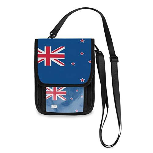 Nueva Zelanda bandera RFID bloqueo pequeñas Crossbody bolsas teléfono celular monedero con ranuras para tarjetas de crédito