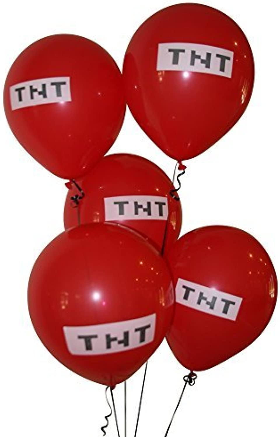 Pixelated Red TNT Balloon 12 Inch Latex Party Balloons  25 Count by Pixel Party Supplies