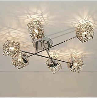 KOSILUM - Plafonnier en métal APHYSE à 6 branches - EN SOLDES ! - Lumière Blanc Chaud Eclairage Salon Chambre Cuisine Coul...