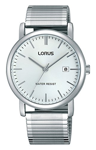 Lorus Klassik Herren-Uhr mit Palladiumauflage und Metallband RG855CX9