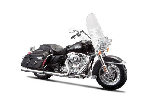 Maisto Harley-Davidson FLHRC Road King Classic 2013: Motorradmodell 1:12, mit Lenkung, beweglichem Ständer und frei rollenden Rädern, schwarz (532322)