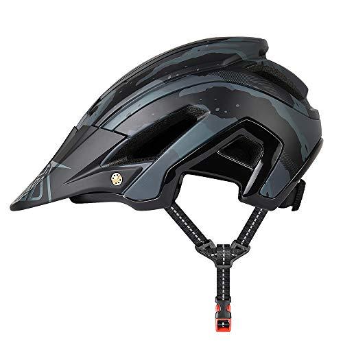 YieJoya Fahrradhelm, leicht, 300 g, 56-61 cm, mit abnehmbarem Sonnenvisier, verstellbare Passform, 15 Vetns Mountainbike-Helm für Erwachsene und Damen, Unisex