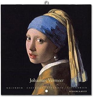 2022年 スモールカレンダー「VERMEER/フェルメール」 壁掛け 画家 風景 アート スケジュール 英語 オランダ語 輸入雑貨