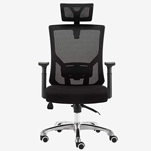 YANYDO Chaise de Bureau Accueil Chaise d'ordinateur Mode Chaise pivotante Ergonomique inclinable Noir