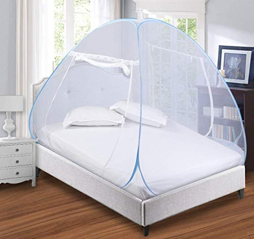 GALOPPIA Mosquito Net (Single Bed, Blue)