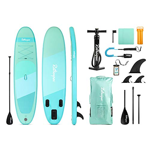 Chill Nalu 8′ Stand-Up Paddle Board Package (Blue/Green ...