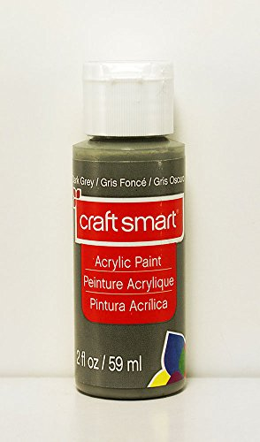 Craft Smart Acrylic Paint 2 Fl.oz. 1 Bottle Dark Grey
