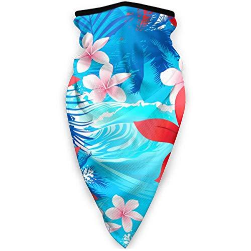 Magic hoofdband tropische bloemen hibiscus rood met surfdoek comfortabele zakdoeken 16 in 1 voor sportgymnastiek sport
