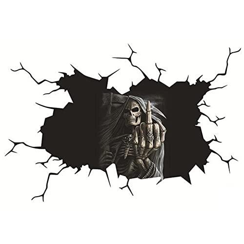 ZIFON Calcomanías de Halloween para coche, calavera, para fiestas de casa, 3D, espeluznante fantasma impermeable para decoración de parabrisas de Halloween