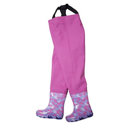 Kinderwathose Pink 32/33 Matschhose Kinder wathose Anglerhose Fischerhose Spielhose