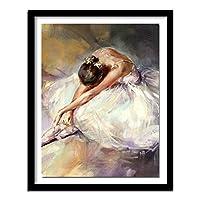 ラインストーンダイヤモンド刺繡踊る女性Diy5dダイヤモンド絵画クロスステッチバレリーナガール刺繍パターンスクエア40x50cm