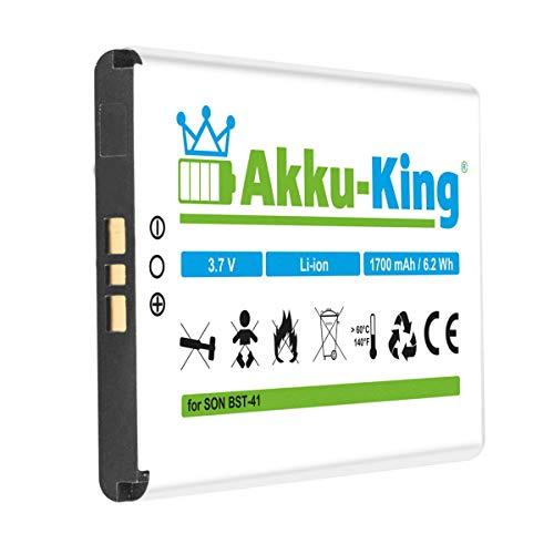 Akku-King Akku kompatibel mit Sony-Ericsson BST-41, EP700 - Li-Ion 1700mAh - für Xperia X1, X2, X3, X10, Aspen, R800a, Playstation Phone, TM X2, Aspen