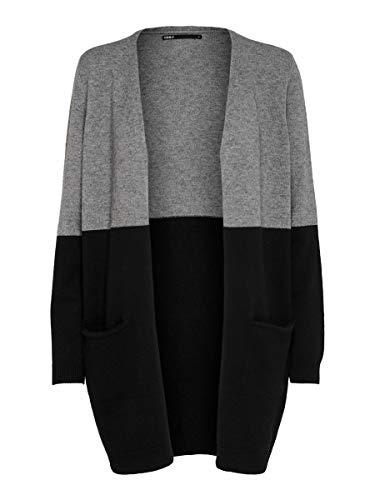 Only ONLQUEEN L/S Long Cardigan Knt Noos, Medium Grey Melange 2, XL Donna