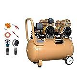 YHRJ Compressore Silenzioso Compressori d'Aria per officine Hanno Bobina di Filo di Rame + valvola di Scarico + Ruota di Gomma, utilizzati per la metallurgia Meccanica Tessile mineraria,600x2 50L
