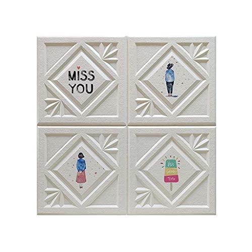 LICHAO ベッドヘッドボード断熱、高密度発泡パネルピールとスティックのためのインテリア壁の装飾スクエアタイルステッカーのための発泡レンガの壁パネル3D肥厚防音壁紙 (Color : C, Size : 10pcs)