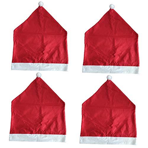 No branded ExquiFirm - Juego de 4 fundas para sillas de comedor de Navidad, para decoración de restaurante y hotel, 59,9 x 50 cm