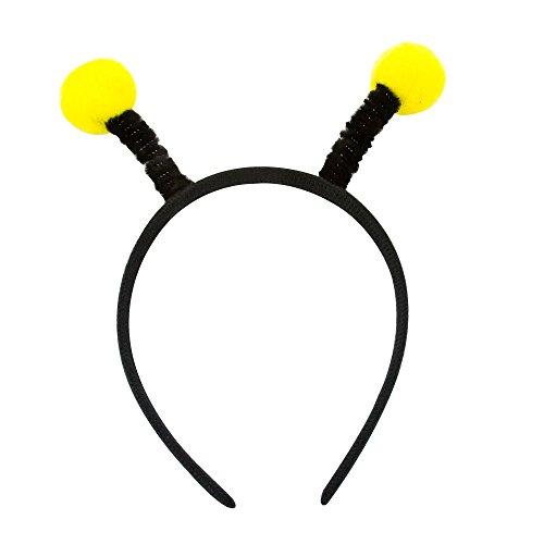 Oblique Unique® Haarreifen Biene mit Wackel Bommeln in Gelb Schwarz Fasching Karneval Motto Party Kostüm Accessoire