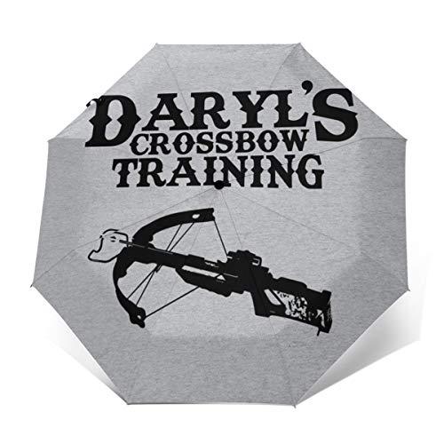 Daryls Regenschirm für Armbrust und zum Trainieren, Winddicht, kompakt, automatisch, faltbar, Reise-Sonnenschirm