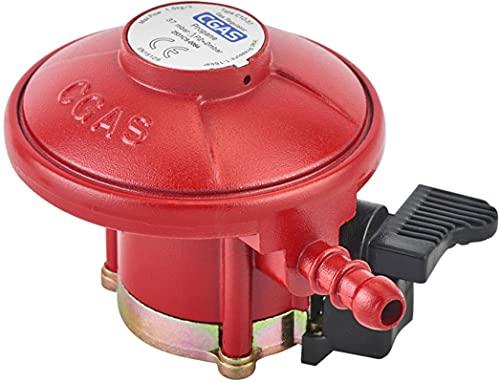 N\C Regulador de gas de patio 37mbar 27mm tipo de clic de propano