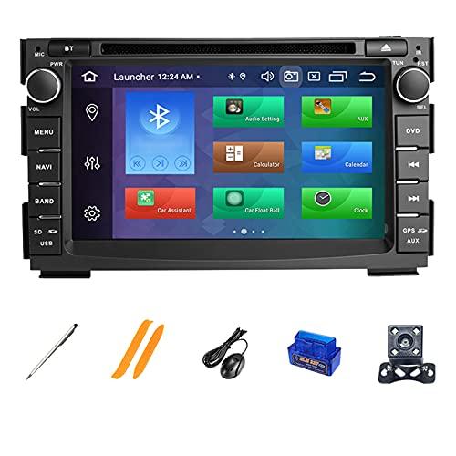 HAZYJT Navigazione GPS Autoradio Capacitivo Schermo Multi Touch Lettore Multimediale Car Radio Compatibile con Kia Ceed 2010 2011 2012 Venga