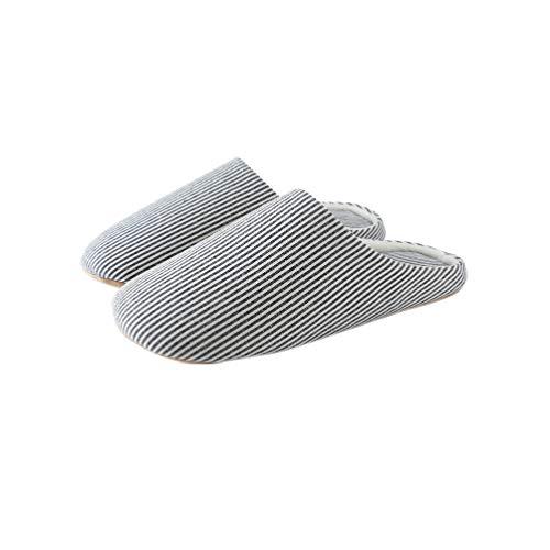 Holibanna Streifen gemütliche Hausschuhe im japanischen Stil Fleece Loafer Flauschigen minimalistischen stumm rutschfeste Schuhe