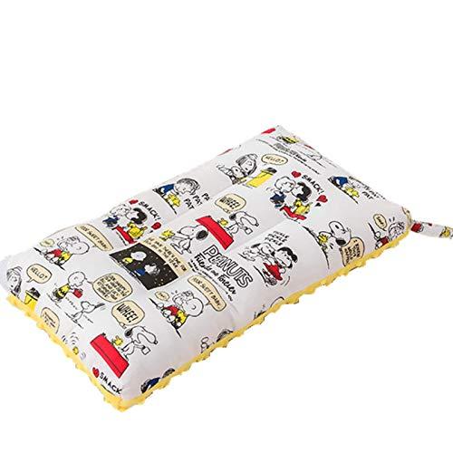 qianbanger Almohada de Dibujos Animados para bebés y niños, Gorro de algodón, Almohada Lavable a máquina, Gorro de Terciopelo, función táctil, Almohada pequeña, 30 * 50 cm