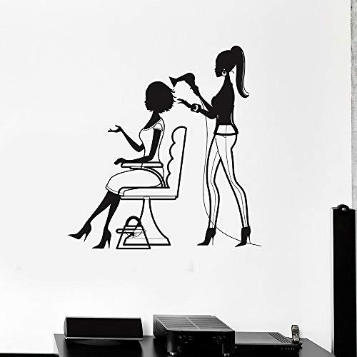 yaonuli Friseursalon Muurtattoos schoonheid nagel stylist vinyl muursticker kapsalon Scandinavische wooncultuur