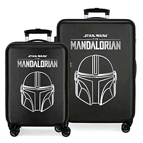 Star Wars Legend Juego de Maletas Negro 55/68 cms Rígida ABS Cierre de combinación Lateral 104L 6 kgs 4 Ruedas Dobles Equipaje de Mano