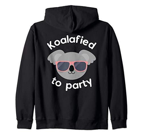 Koala Koalafied To Party Birthday Gift Zip Hoodie